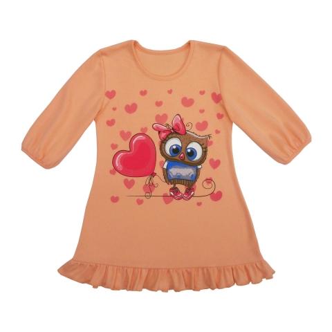 Сорочка Модель 424 персиковая