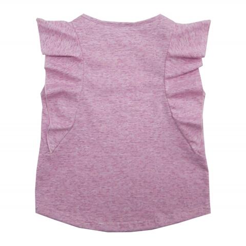Блузка Модель 453 розовая вид сзади