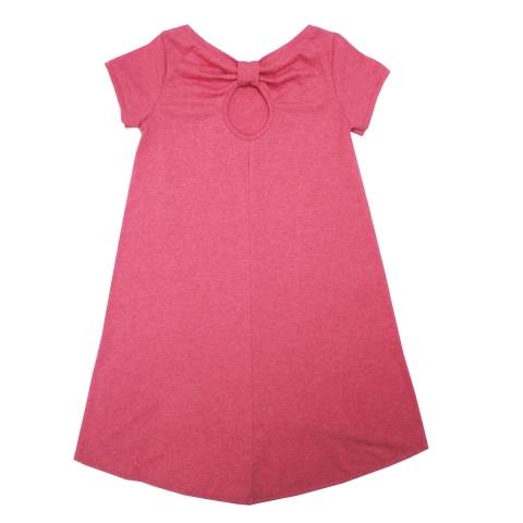 Платье Модель 462 розовое вид сзади