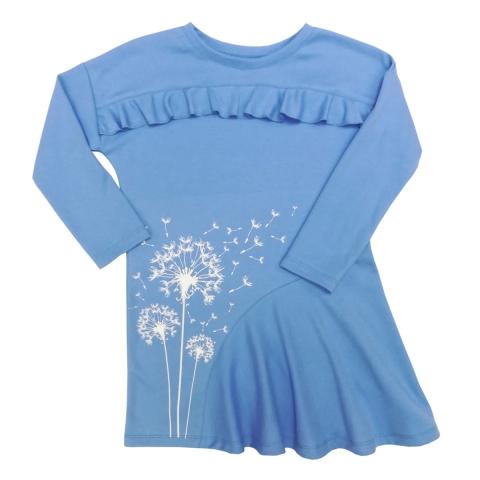 Платье Модель 493 голубое