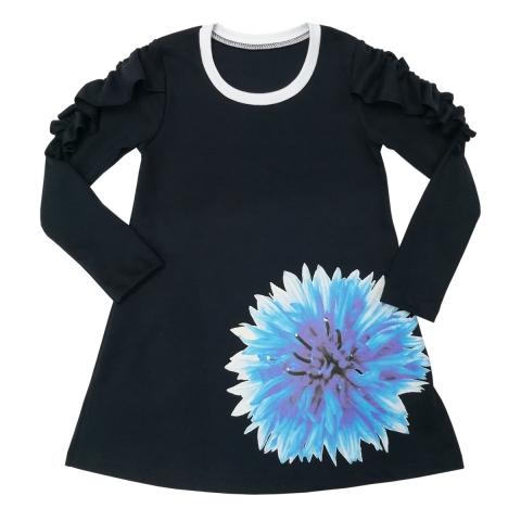 Платье Модель 498 темно-синий