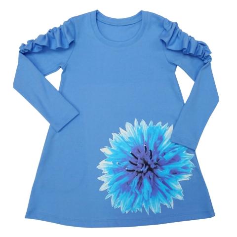 Платье Модель 498 голубой