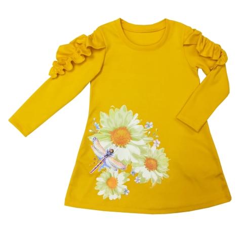 Платье Модель 498 шафрановый