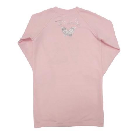 Платье Модель 621 розовое вид сзади