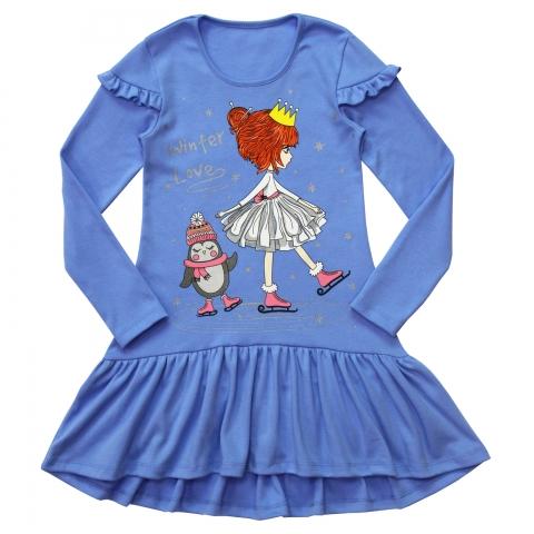 Платье Модель 830 голубое
