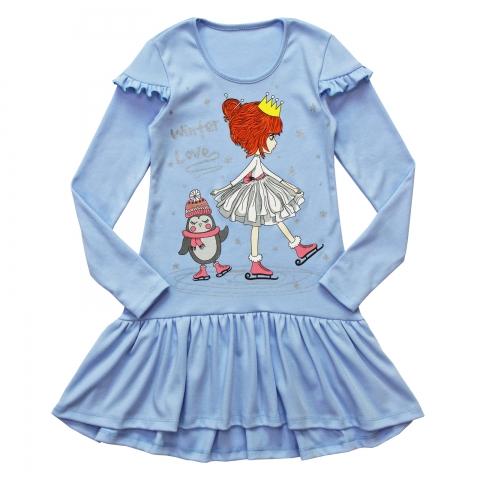 Платье Модель 830 светло-голубое