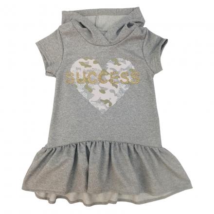 Платье Модель 698 серое